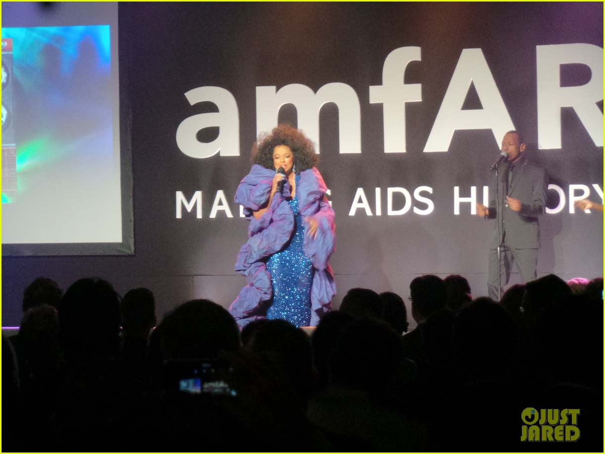 ashlee simpson evan ross support his mom diana ross at amfar gala 033230847