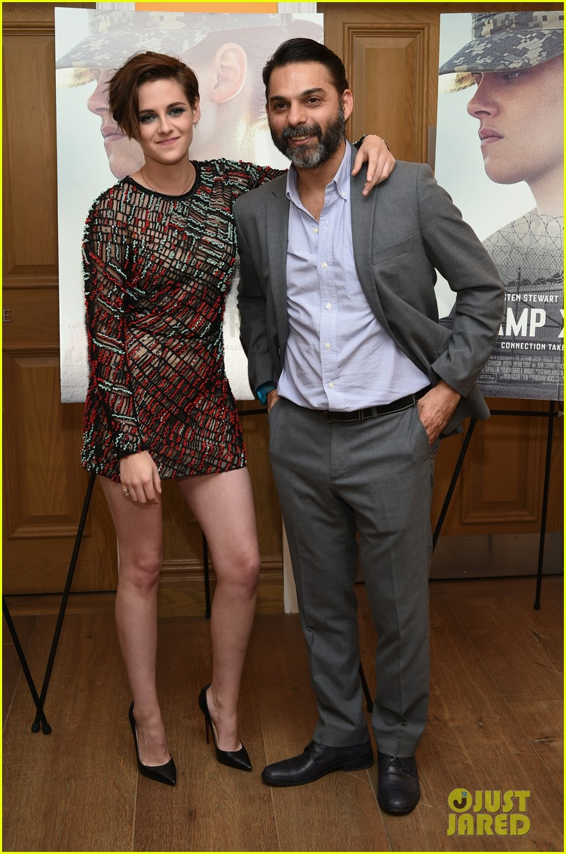 Kristen Stewart Wears Revealing Dress at 'Camp X-Ray' NYC Premiere!