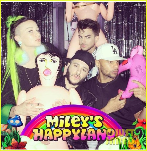 22nd Birthday Ideas In November: Adam Lambert Licks A Blow Up Doll At Miley Cyrus' 22nd
