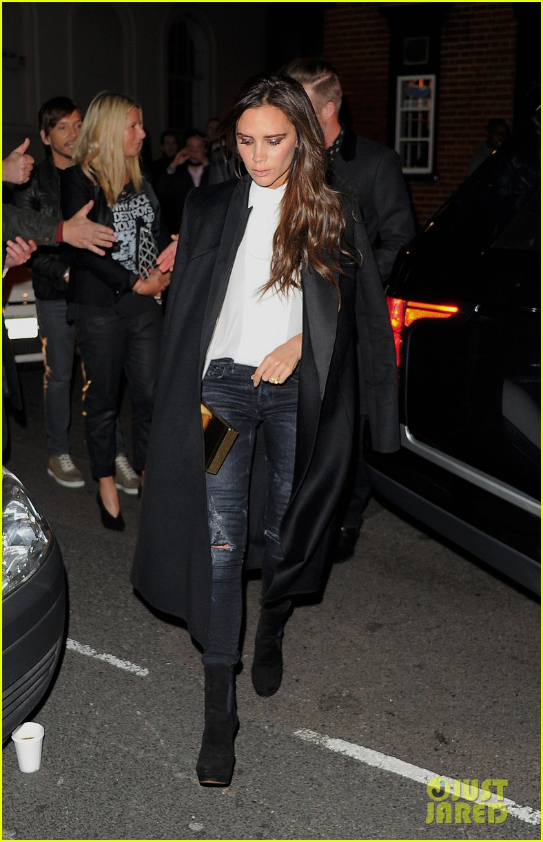102c1a910a862 David & Victoria Beckham Have a Night of Celebration with Kate Moss ...