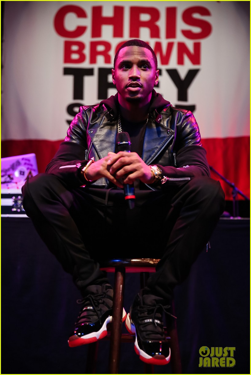 tyga makes chris brown trey songs tour announcement press conference 023239818