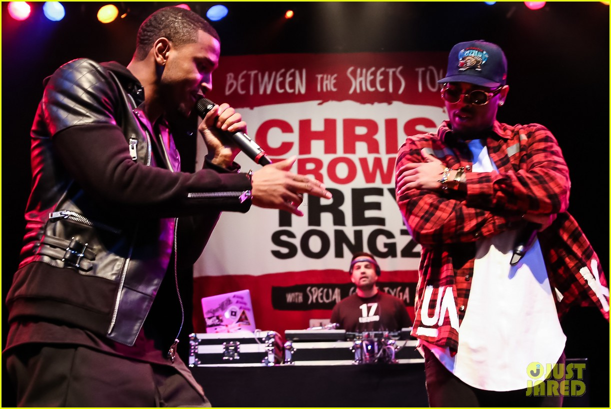 tyga makes chris brown trey songs tour announcement press conference 113239827