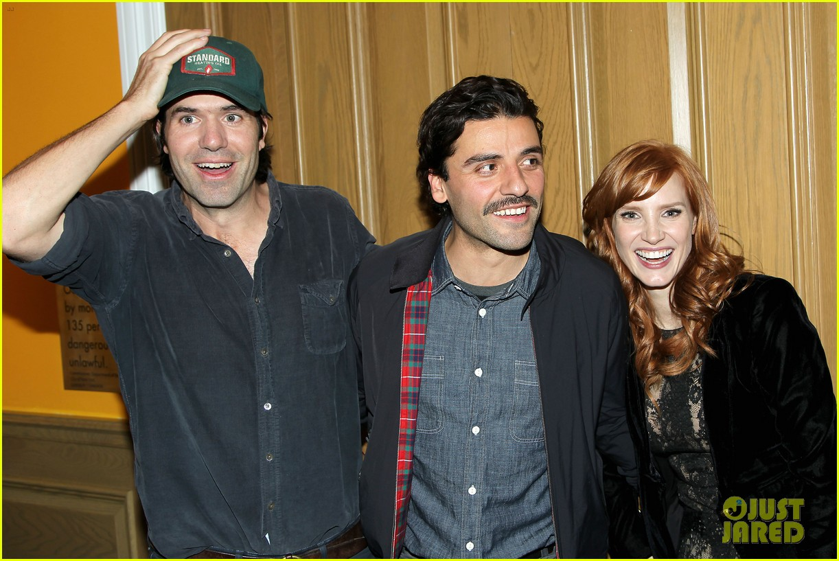 jessica chastain oscar isaac open up about bad auditions for a most violent year 043250184
