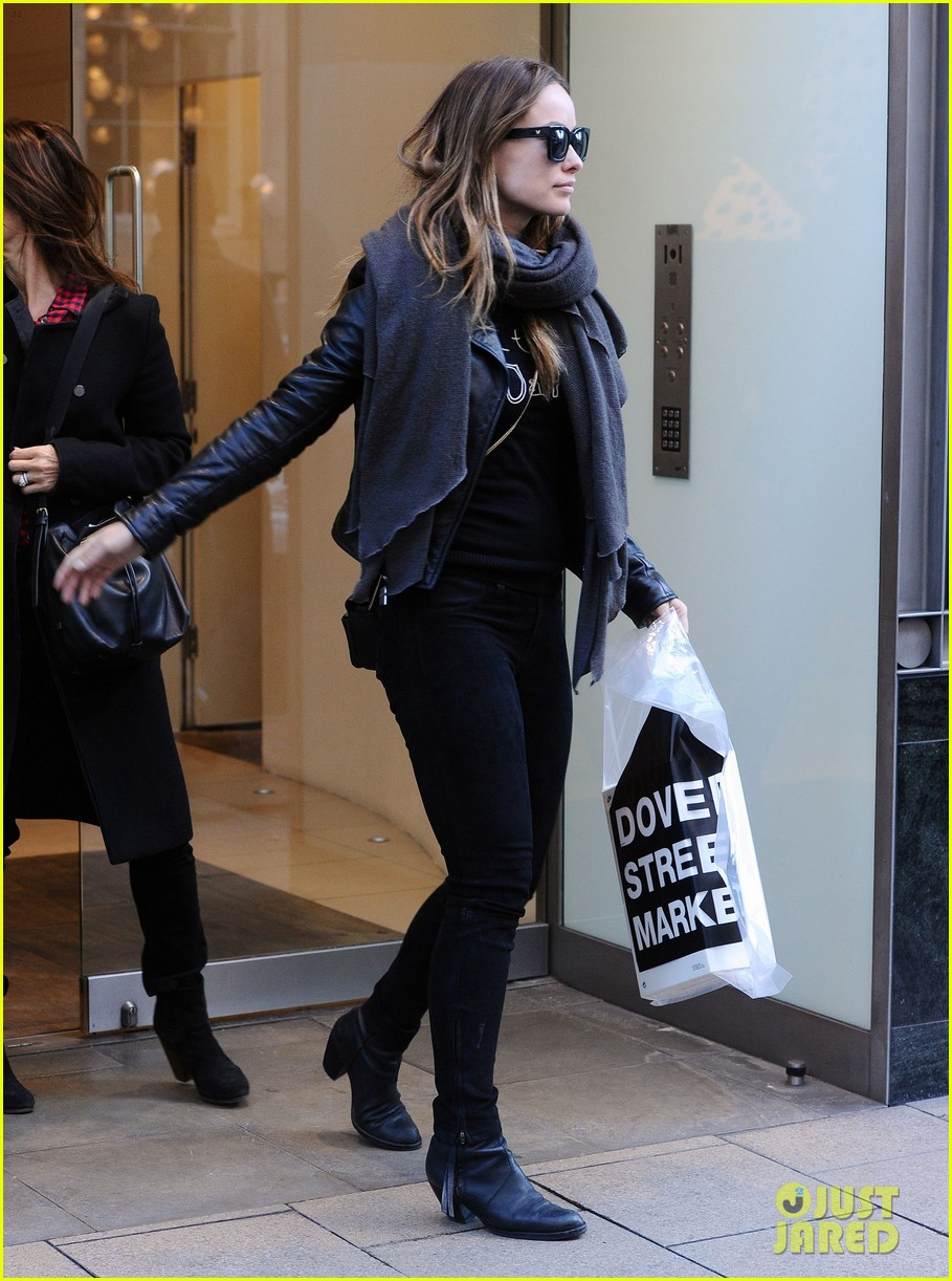 justin theroux olivia wilde shopping london horrible bosses 253240710