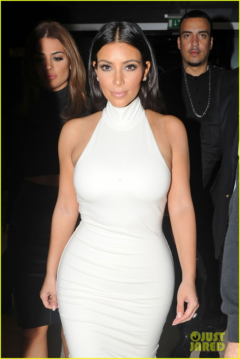 kim kardashian parties with french montana surprises the troops 023249018