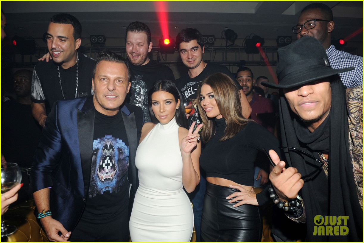 kim kardashian parties with french montana surprises the troops 043249020