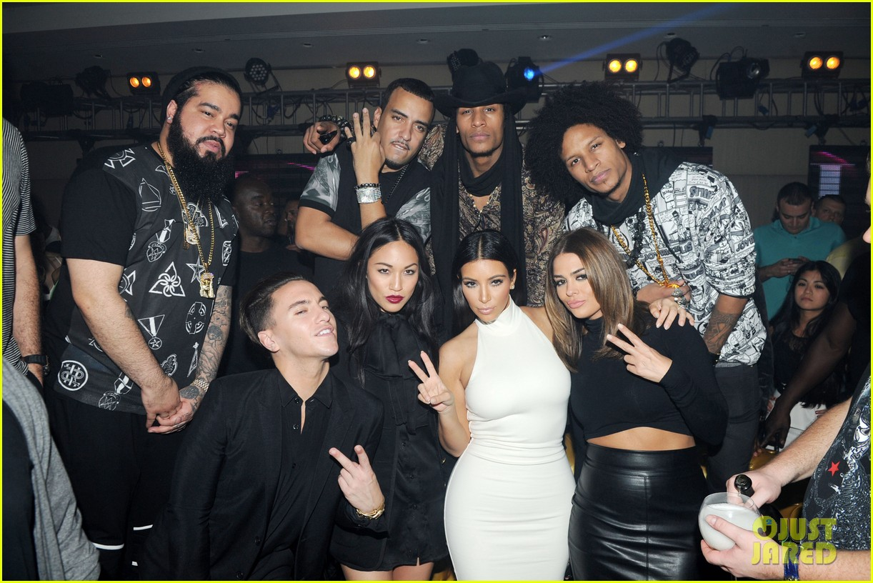 kim kardashian parties with french montana surprises the troops 063249022