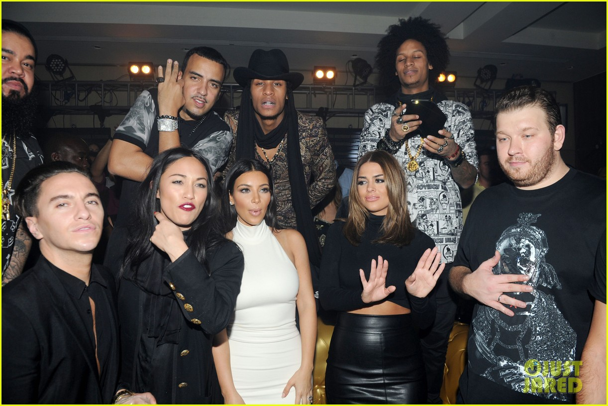 kim kardashian parties with french montana surprises the troops 183249034