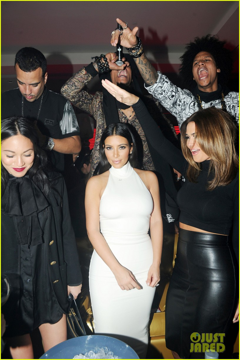 kim kardashian parties with french montana surprises the troops 263249042
