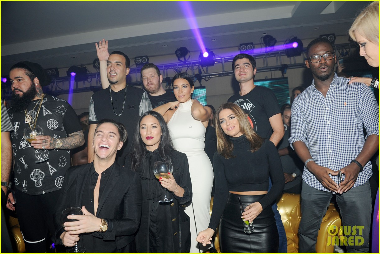 kim kardashian parties with french montana surprises the troops 273249043