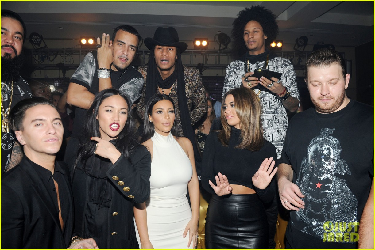 kim kardashian parties with french montana surprises the troops 283249044