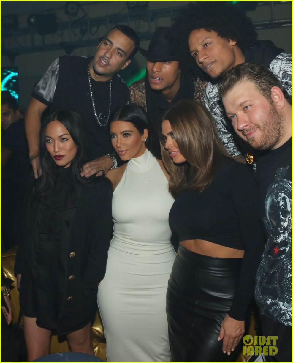 kim kardashian parties with french montana surprises the troops 333249049