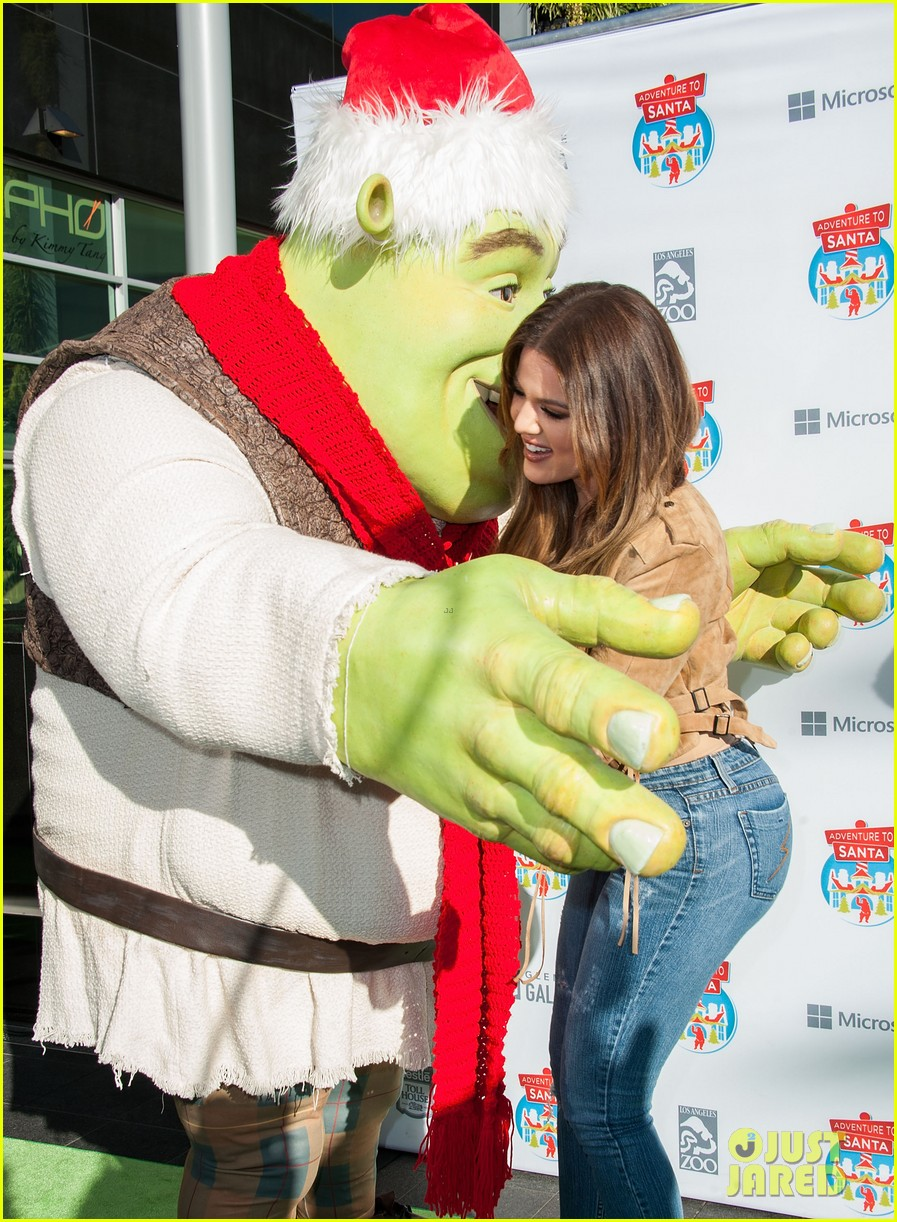 Khloe Kardashian Hugs Santa Shrek After Reportedly Getting