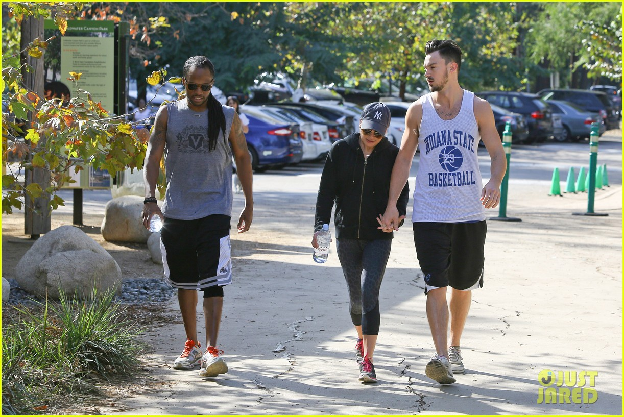 lea michele love is in the air romantic hike with boyfriend matthew paetz 053248325
