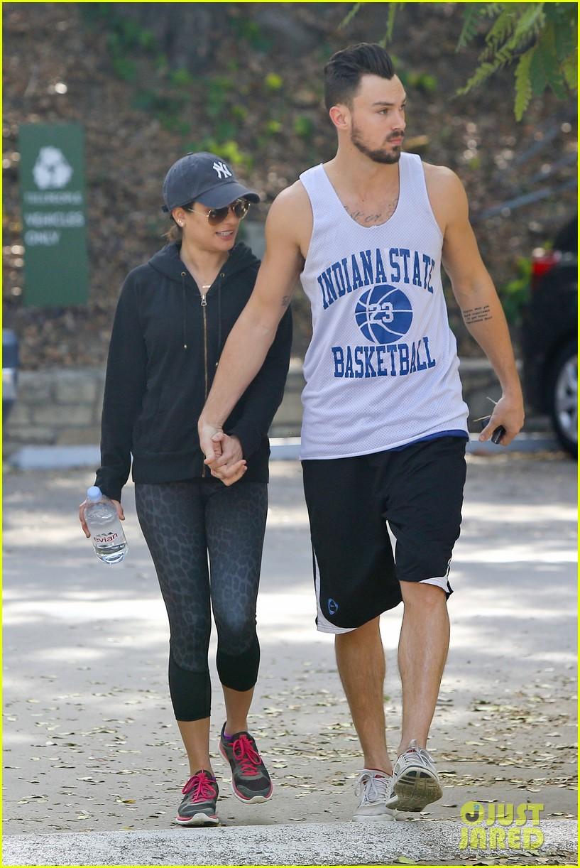 lea michele love is in the air romantic hike with boyfriend matthew paetz 093248329