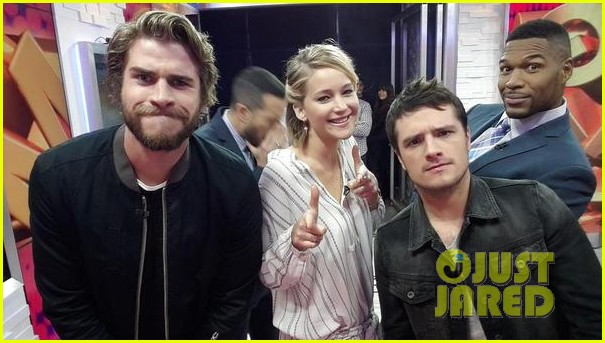 jennifer lawrence liam hemsworth josh hutcherson good morning america 013241583