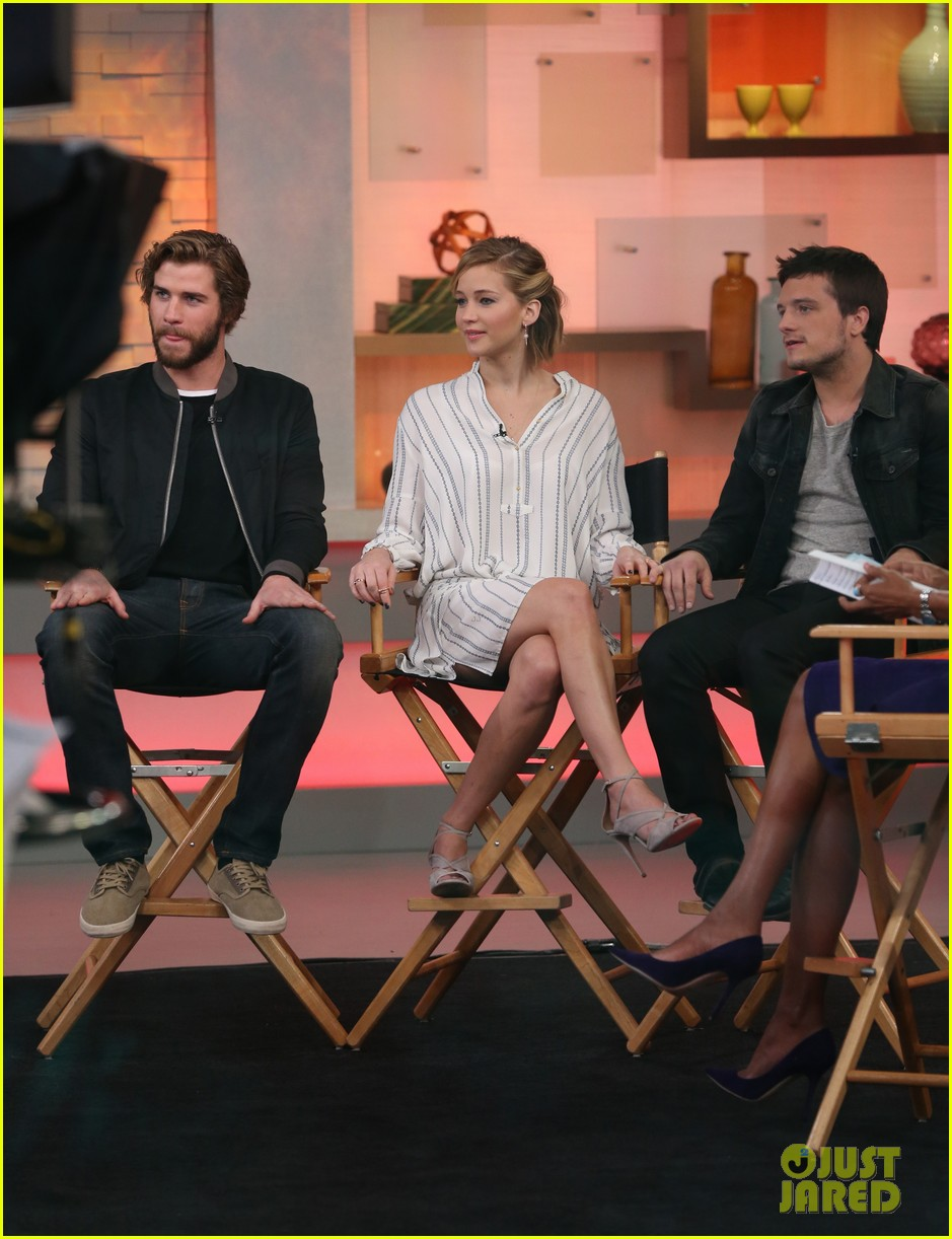 jennifer lawrence liam hemsworth josh hutcherson good morning america 053241587