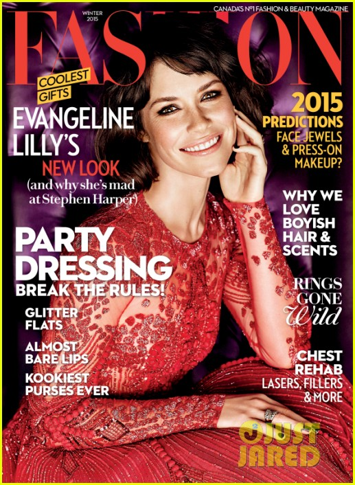 evangeline lilly chooses a very interesting ensemble to promote her new book 033244403