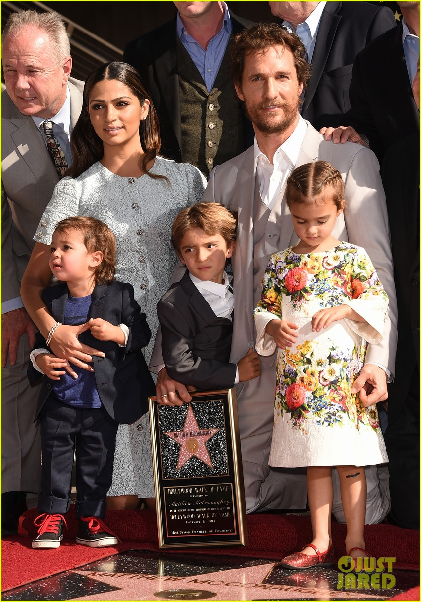 matthew mcconaughey family hollywood walk of fame 013244283