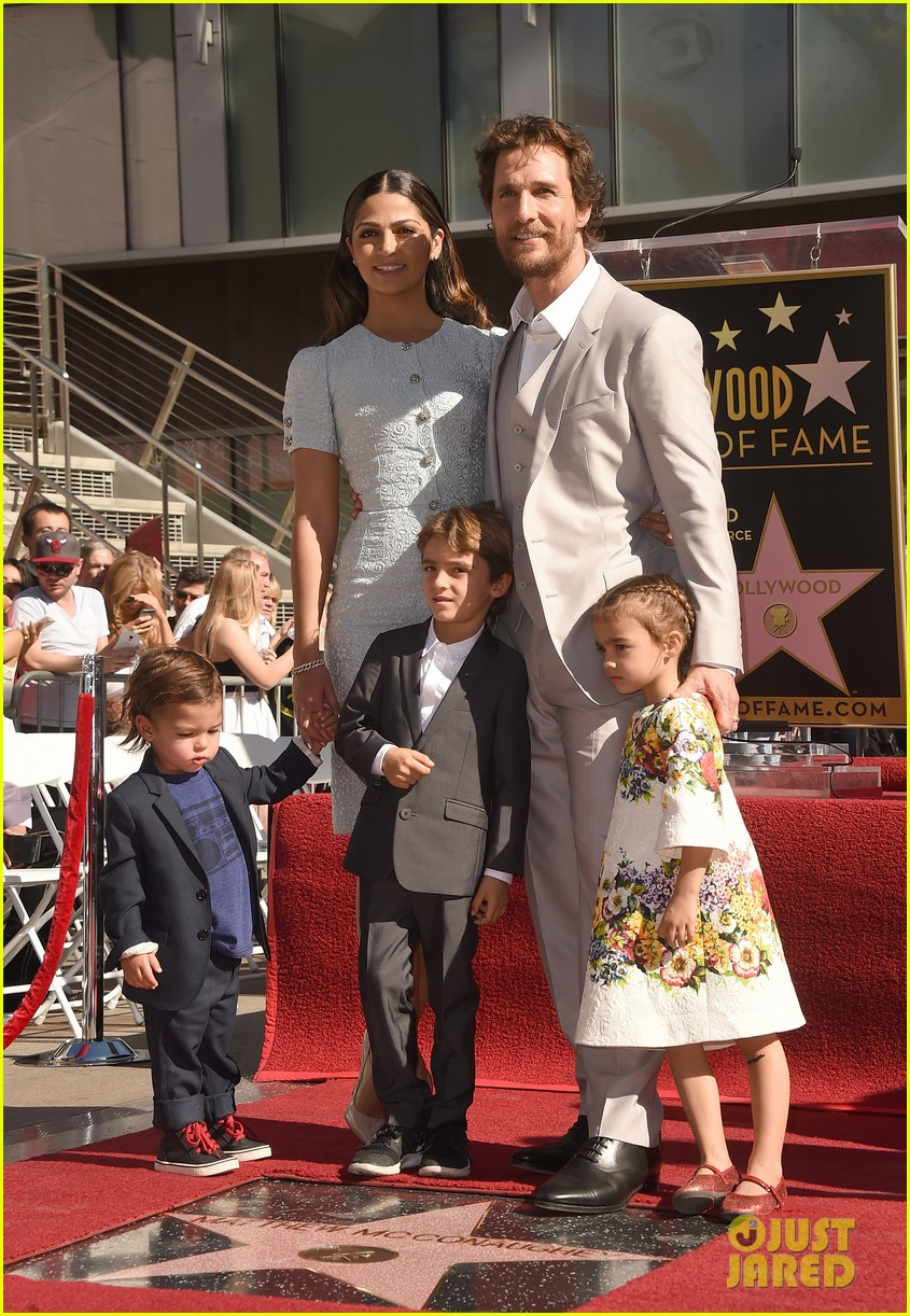 matthew mcconaughey family hollywood walk of fame 033244285