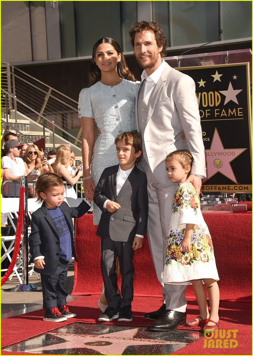 matthew mcconaughey family hollywood walk of fame 063244288