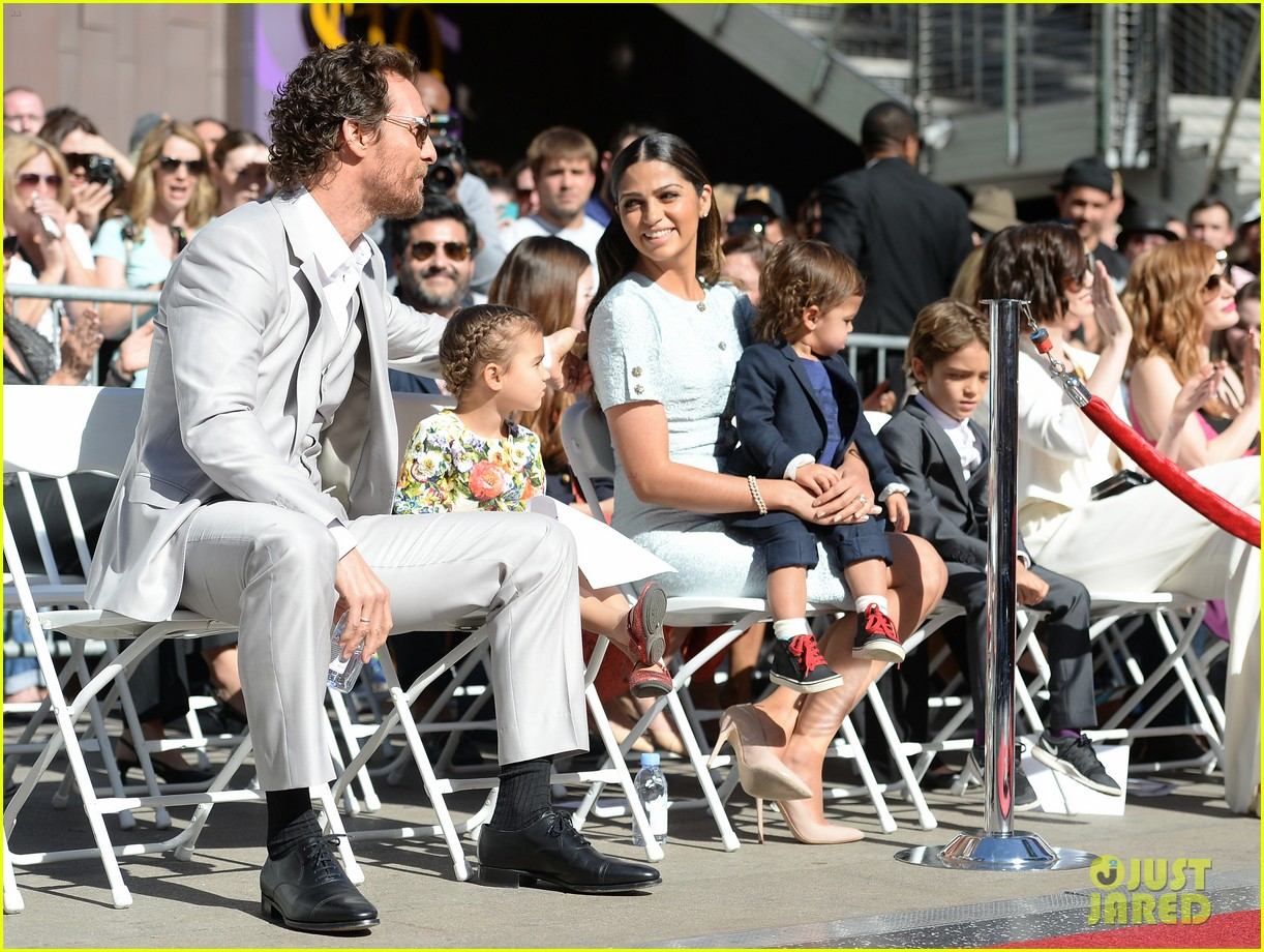 matthew mcconaughey family hollywood walk of fame 153244297