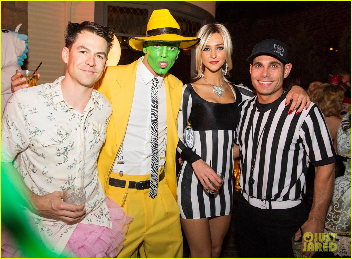 patrick schwarzenegger sister katherine keek out at justjareds halloween party 013233236