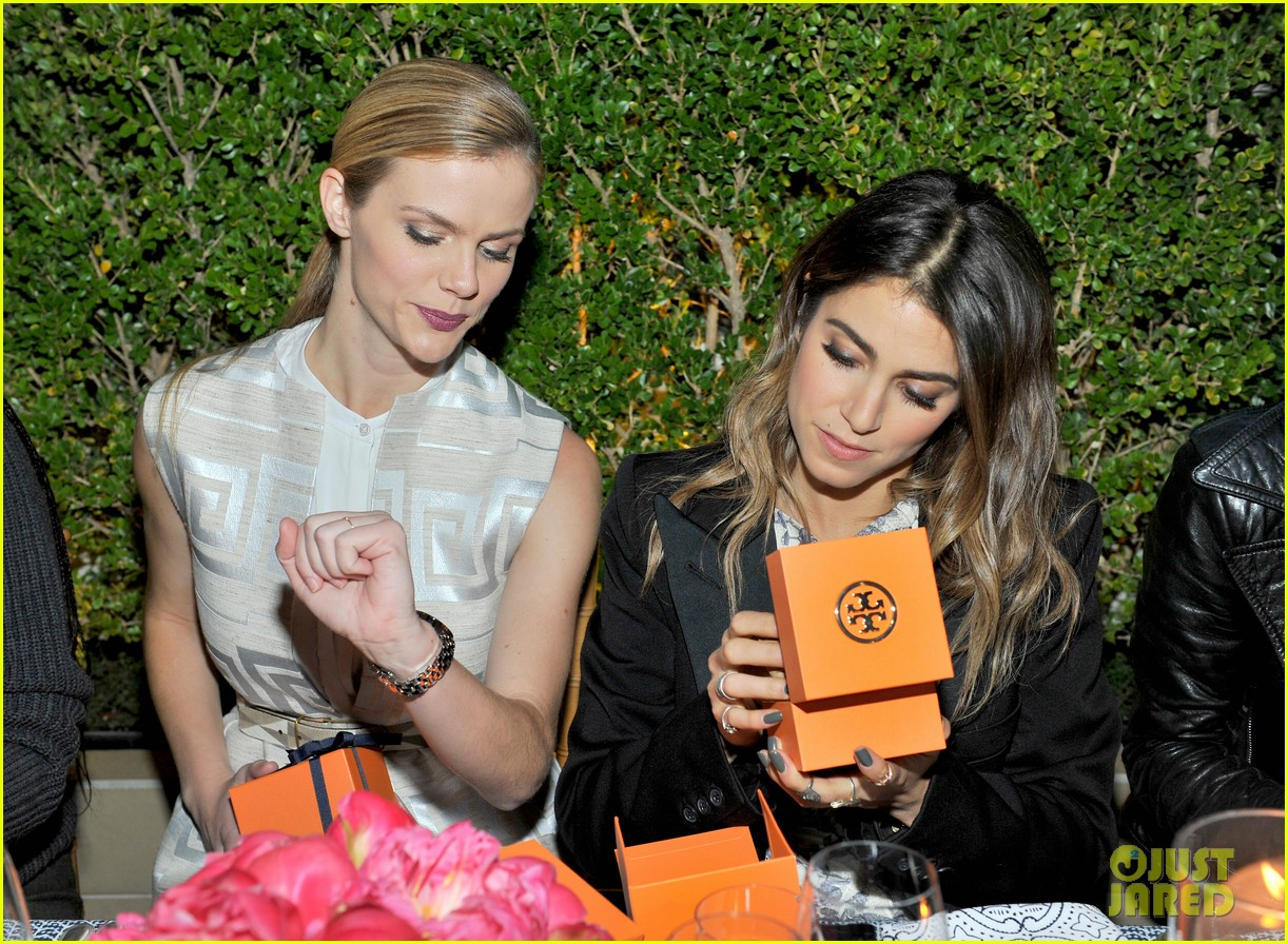 f16a54f7a9a Nikki Reed   Aubrey Plaza Chat It Up at Tory Burch Celebration ...