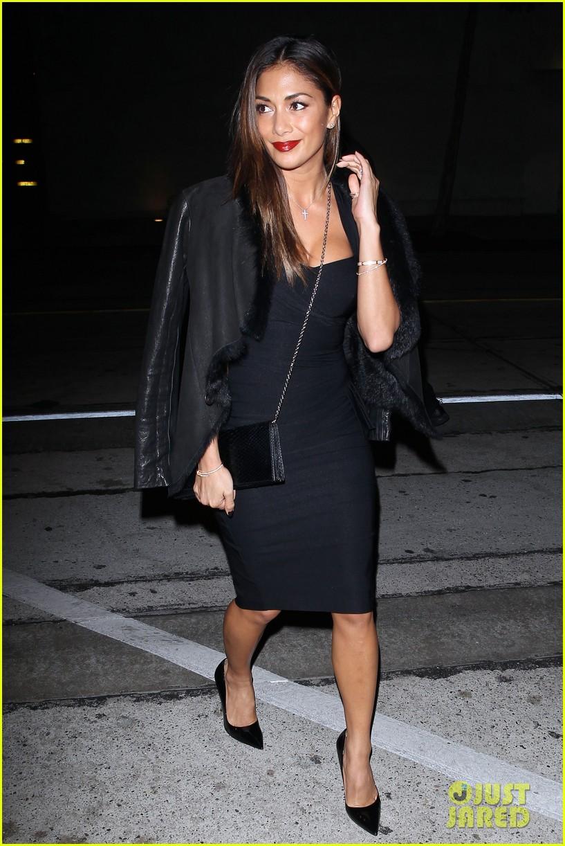 nicole scherzinger dons sexy black dress for craigs 113234621