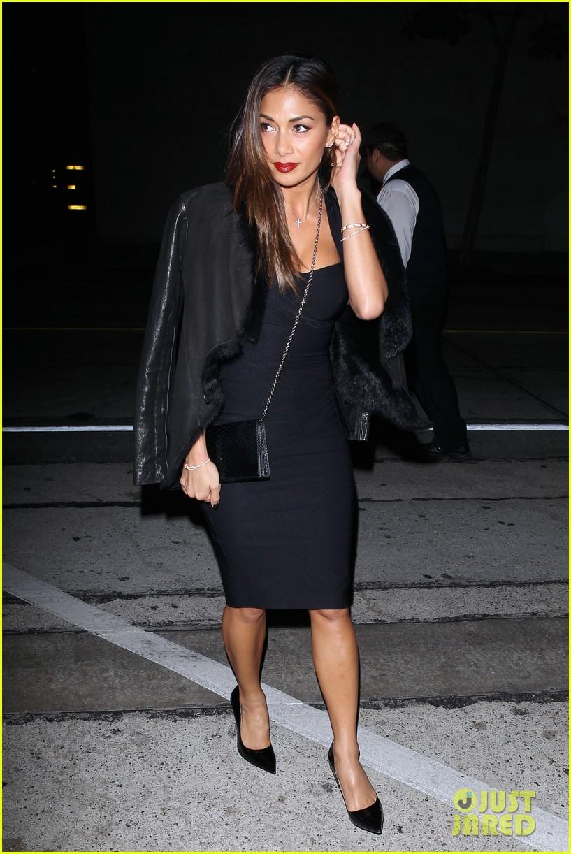nicole scherzinger dons sexy black dress for craigs 123234622