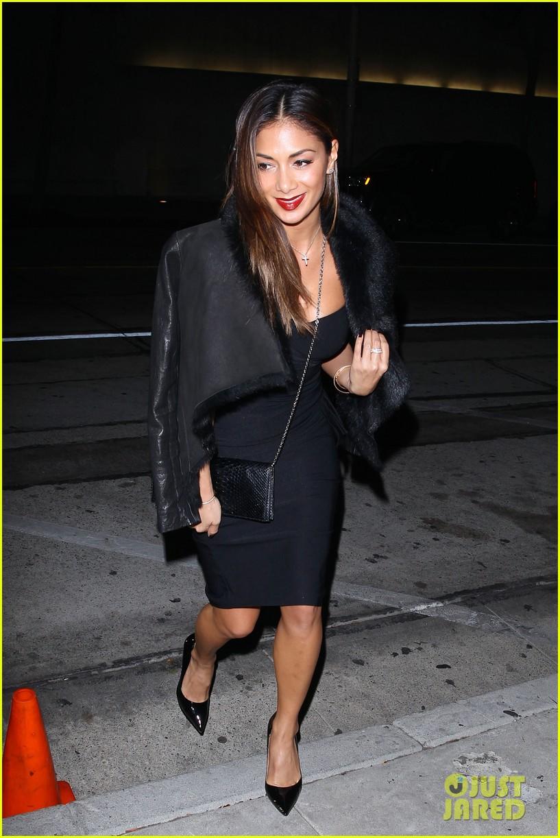 nicole scherzinger dons sexy black dress for craigs 133234623