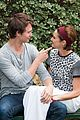 ansel elgort shailene woodley recreate bench poster tfios 13