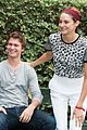 ansel elgort shailene woodley recreate bench poster tfios 17