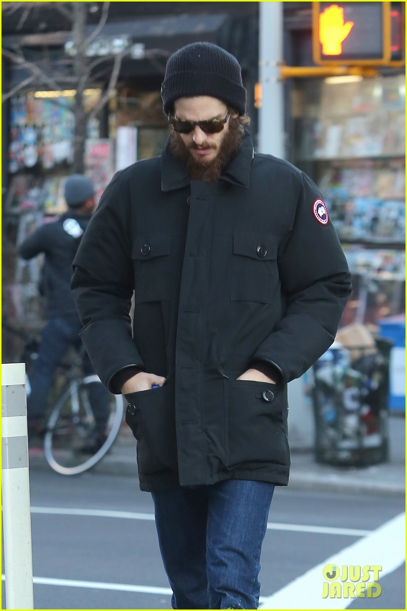 Andrew Garfield Ventures Out Solo in the Big Apple Andrew Garfield