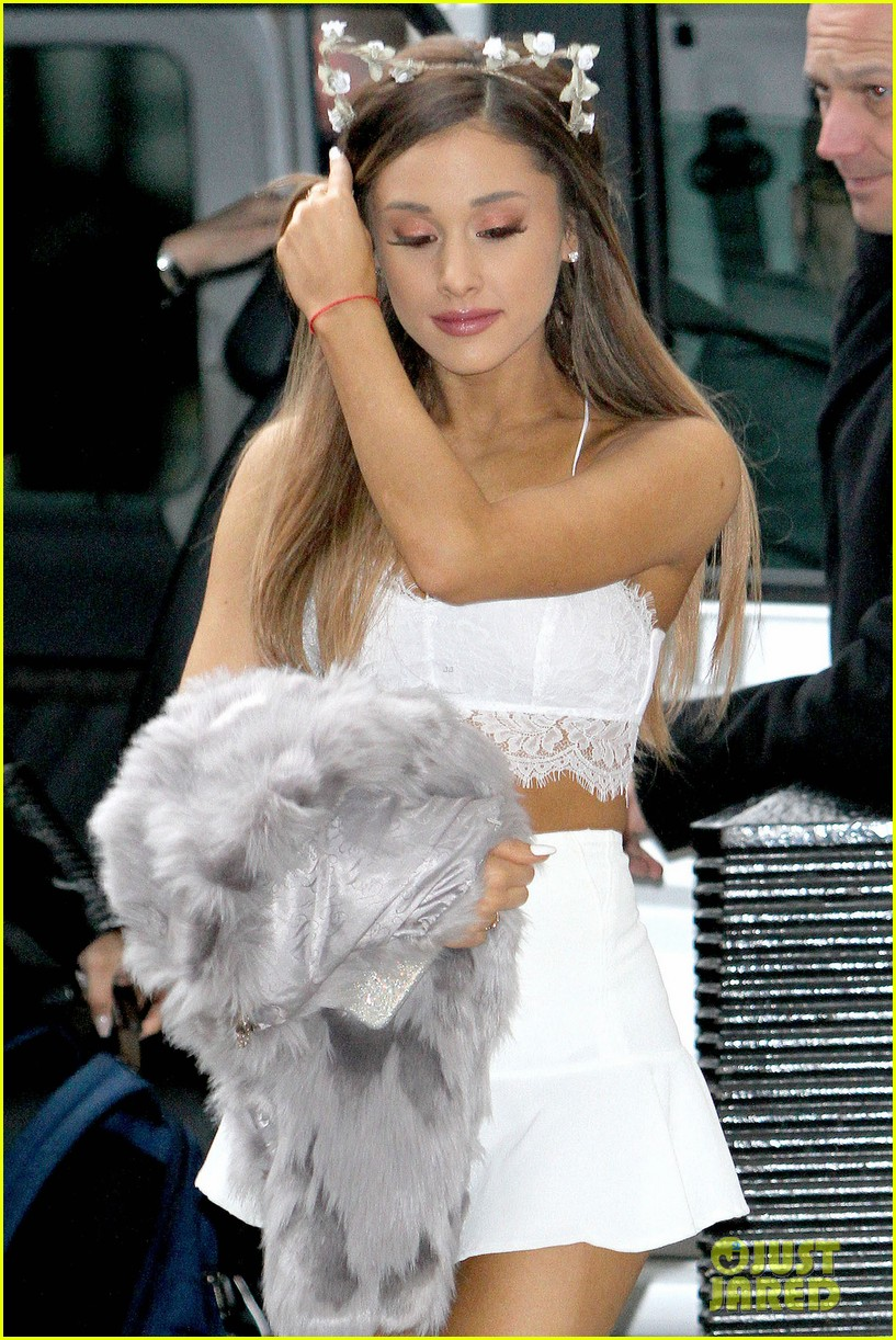 Ariana Grande White Mini Dress