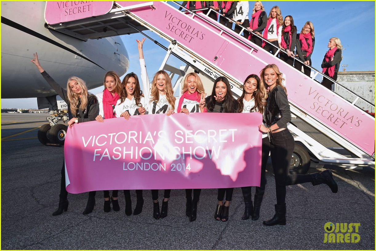 behati prinsloo adriana lima jet off london victorias secret 083251996