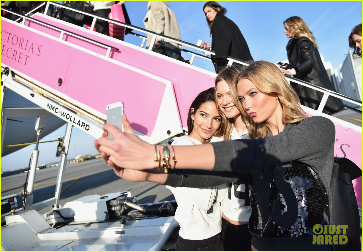 5f42085ce54b6 Behati Prinsloo & Adriana Lima Jet Off to London for Victoria's Secret  Fashion Show 2014