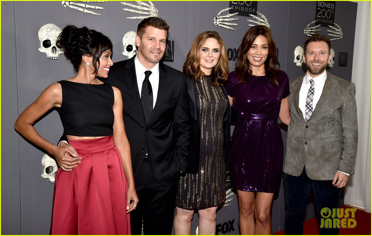 Emily Deschanel Shows Off Her Growing Baby Bump at Bones' 200th ...