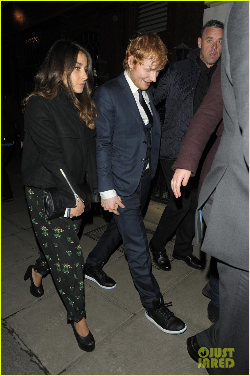 ed sheeran adorably holds hands with girlfriend athina