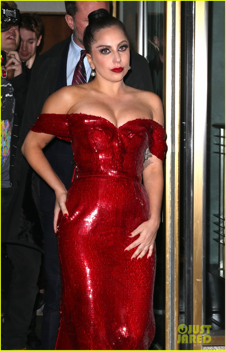 13c88ffe Lady Gaga Channels Jessica Rabbit in a Sparkly Red Dress: Photo ...