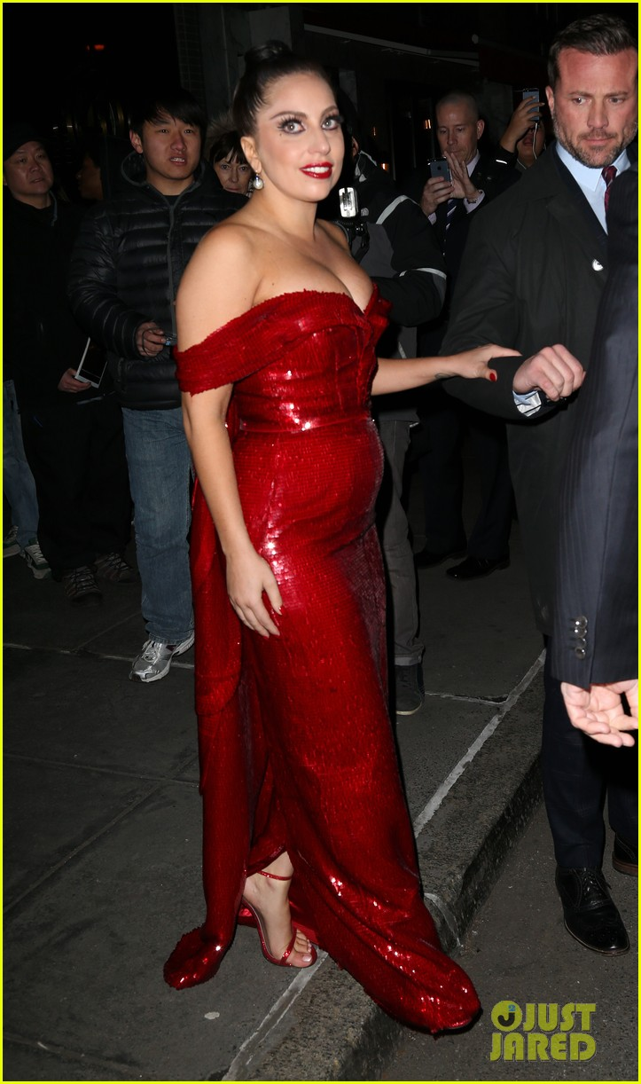 Lady Gaga Red Dress Costume