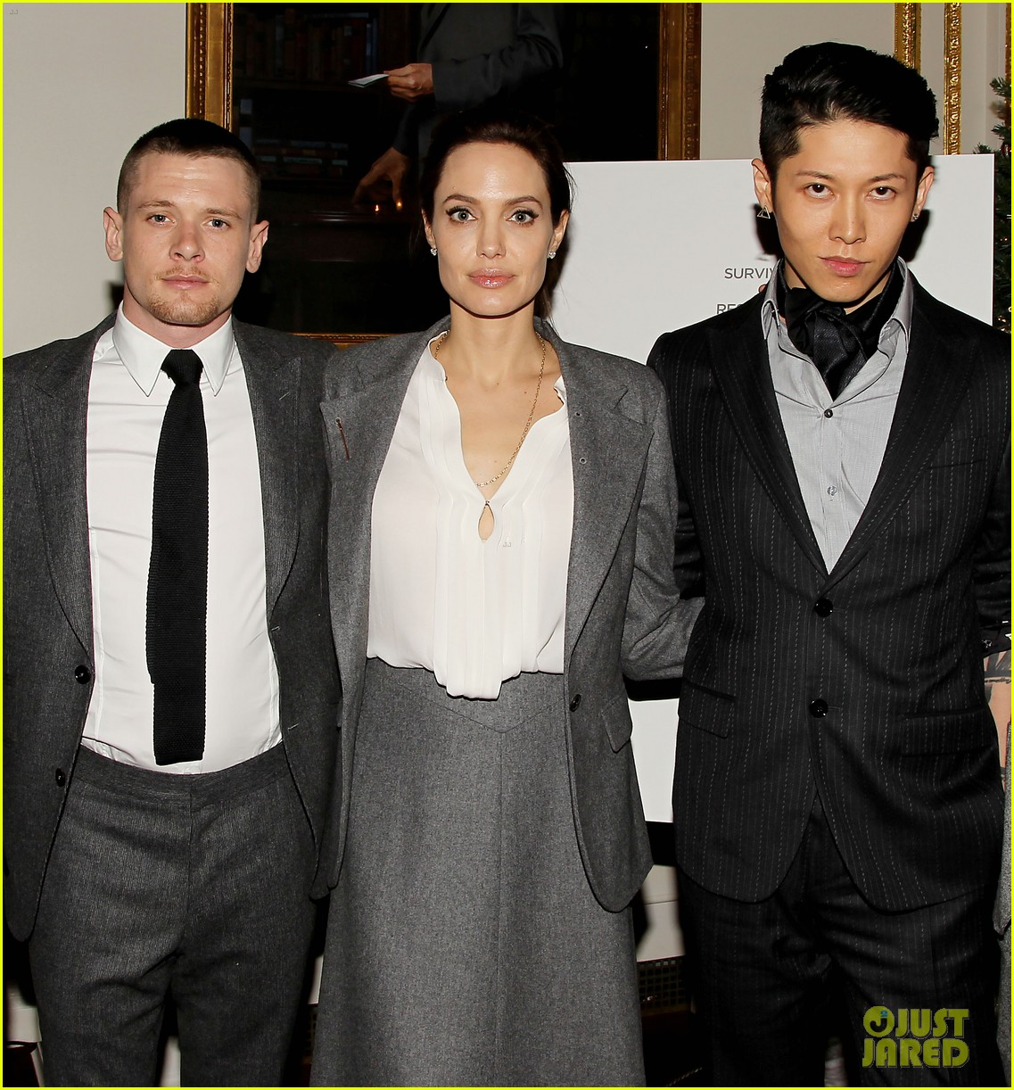 Angelina Jolie Supports Her Cast At A Special Unbroken Luncheon