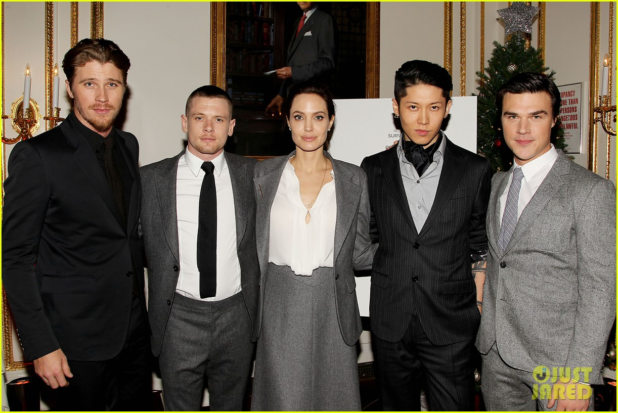 Angelina Jolie Supports Her Cast at a Special 'Unbroken