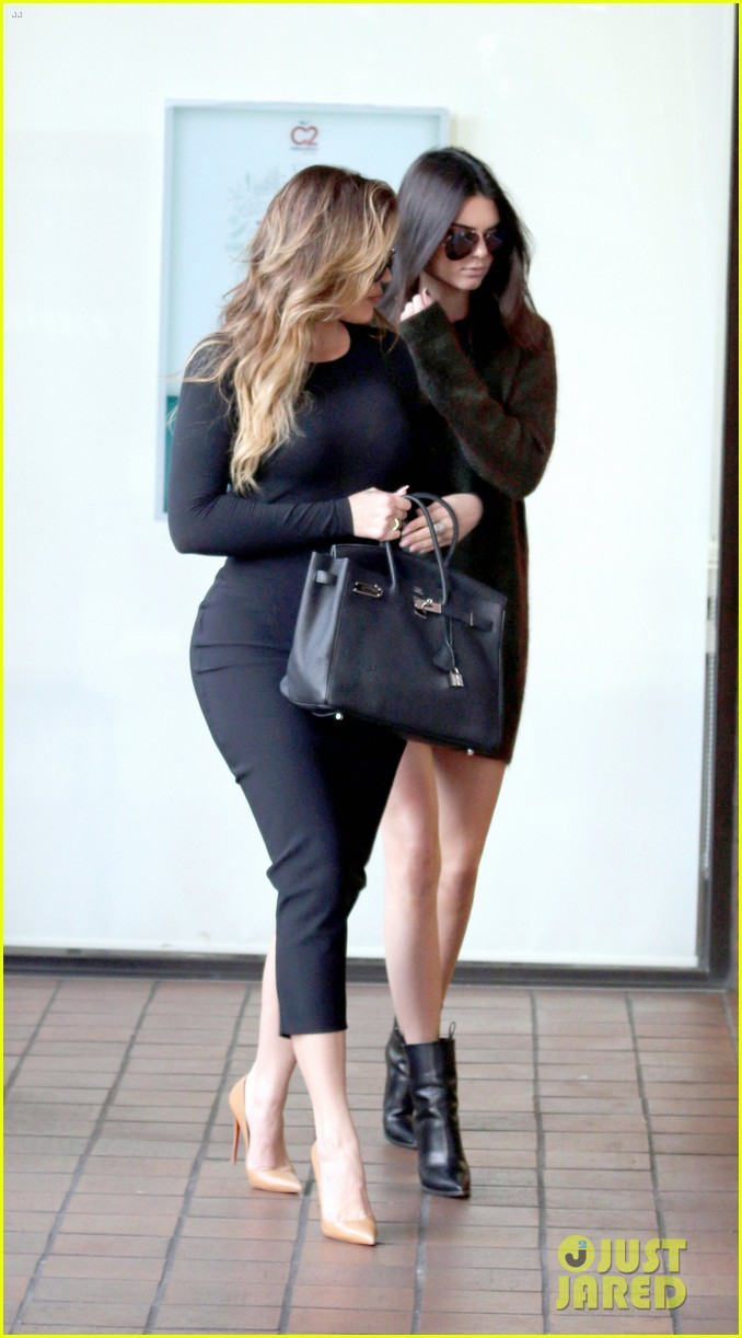 kendall khloe stick out tongues 053266108