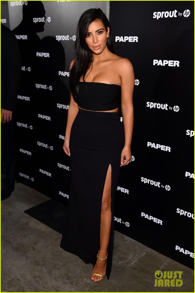 7fd62a7d074 Kim Kardashian Wears Sexy Skin-Revealing Dress for  Paper  Magazine Party  in Miami