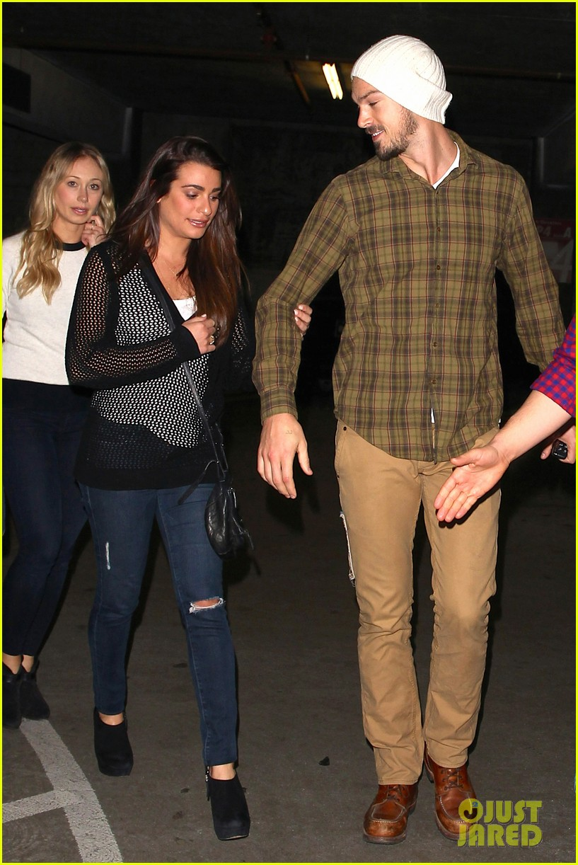 lea michele makes it a date night with boyfriend matthew paetz 053257565