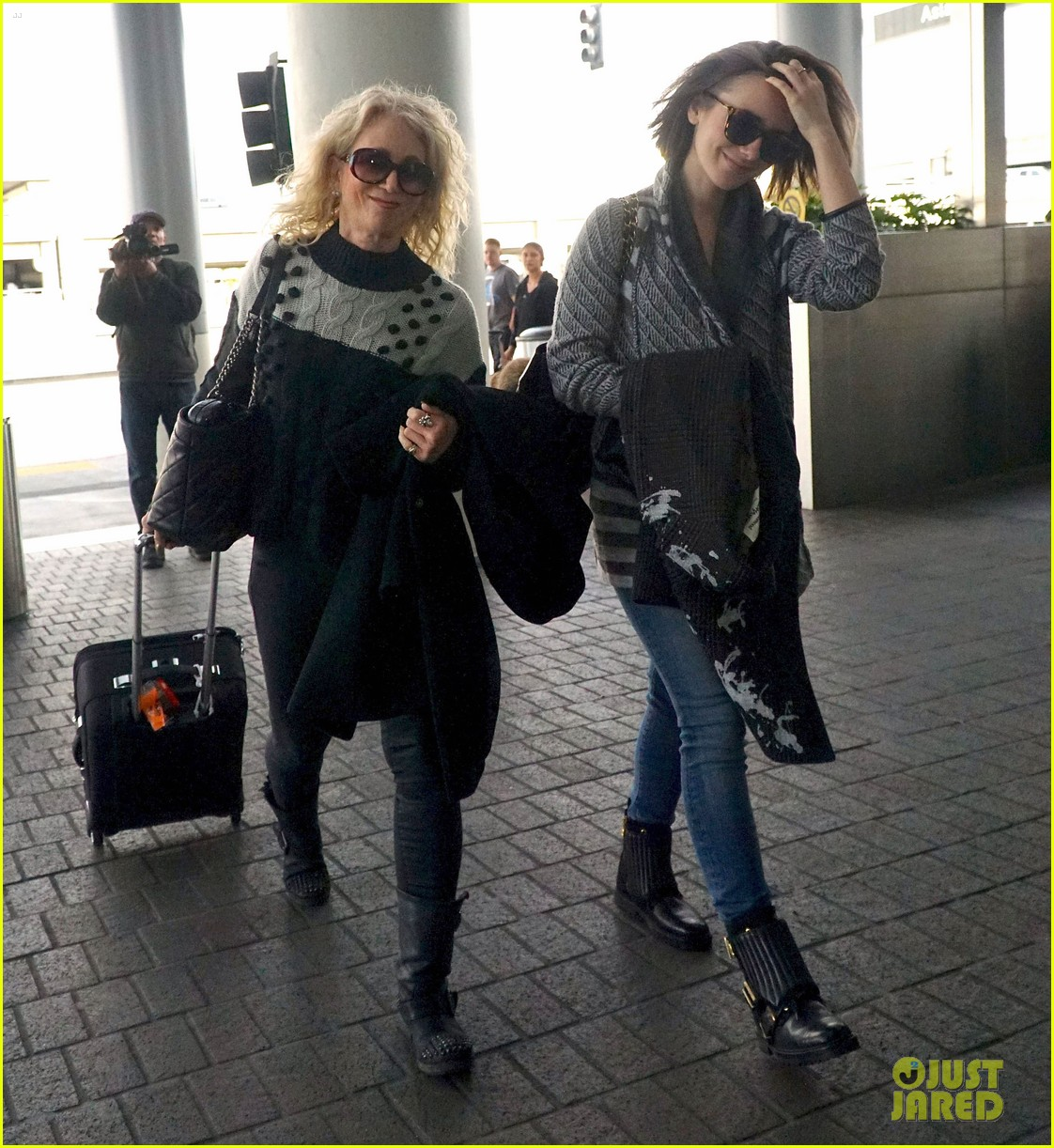 Lily Collins & Mom...