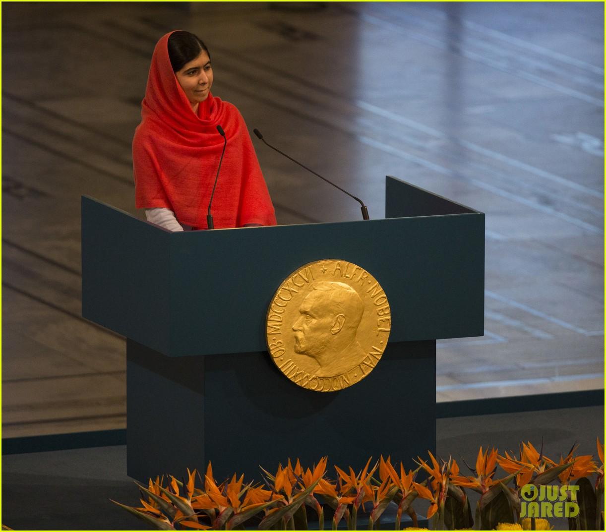 Activist Malala Yousafzai Accepts Nobel Peace Prize in