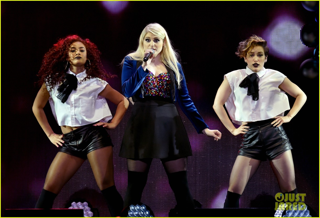 Meghan Trainor Hits KIIS FM's Jingle Ball After Grammy