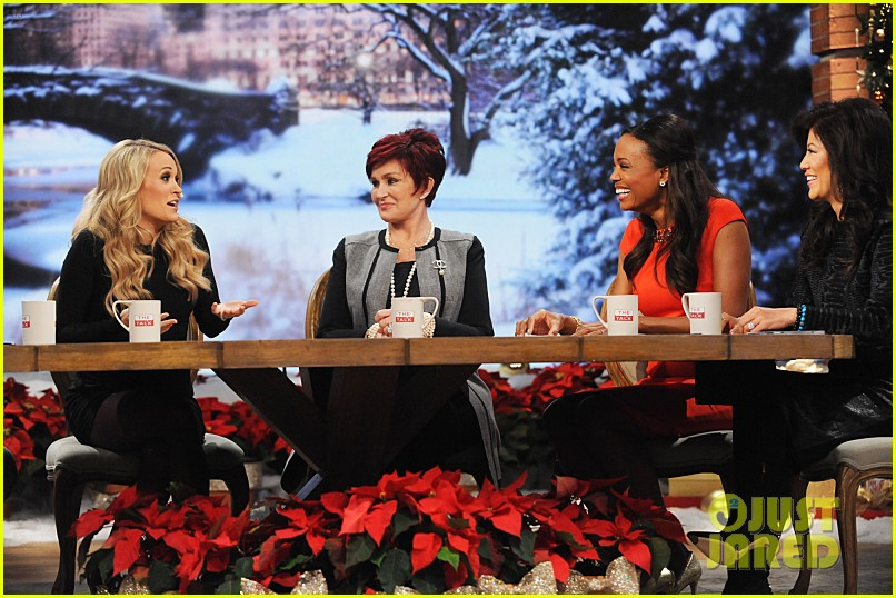 pregnant carrie underwood plays carrie oke on the talk 093259395